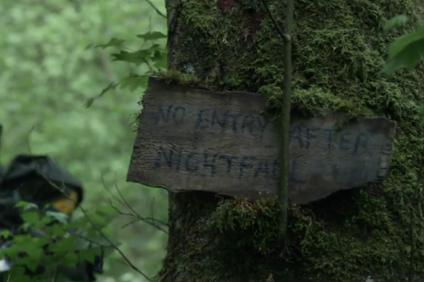 But what if you enter the woods before nightfall and then stay there? Then what?