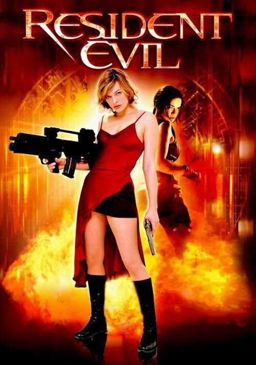 """The first """"Resident Evil"""" film poster."""