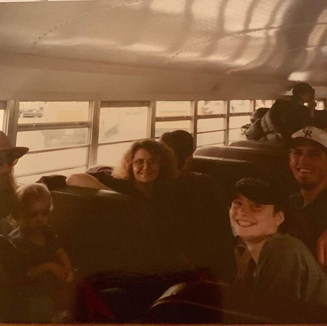 On our way to Woodstock 25! 25 years ago. Our baby phoebe was only 18 months