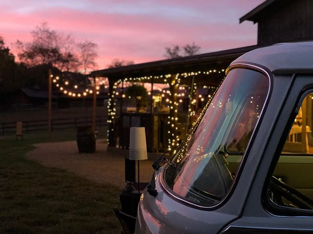 The sunset did not disappoint for Noelle & Orin's wedding tonight. Congratulations guys! Thanks so much for including The Bus Booth in your celebrations!  #thebusbooth #maggiethebus #vwbusphotobooth #ashevillewedding #wncwedding  #828isgreat
