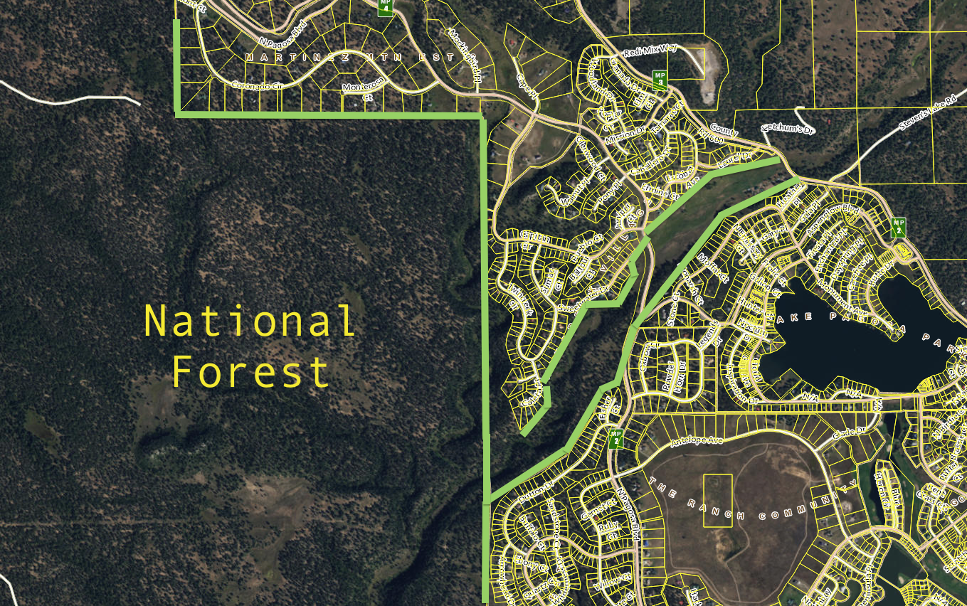 Twincreek is nestled in the middle of National Forest and the Equestrian Center