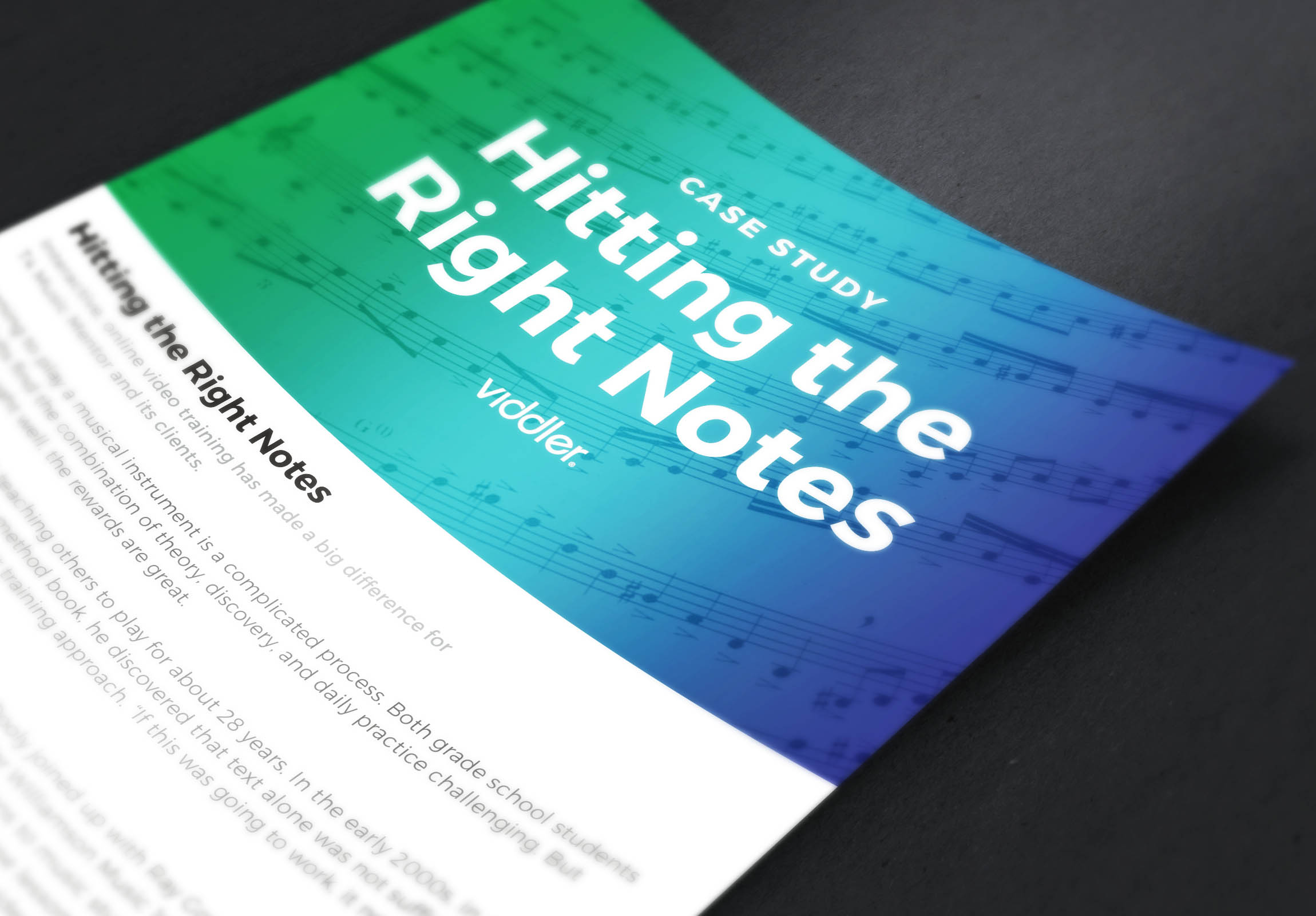 Viddler Case Study - Hitting the Right Notes