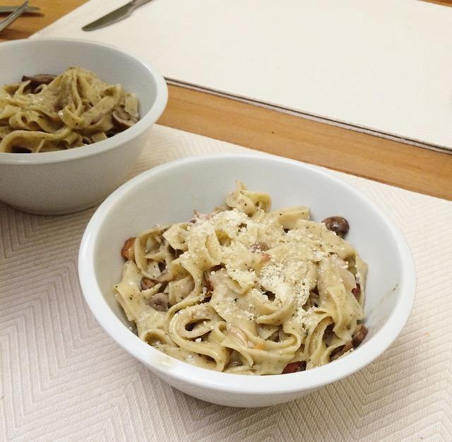 Crispy Pancetta Tagliatelle