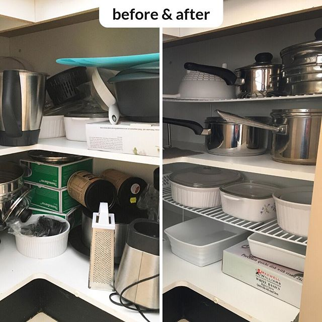 #beforeandafter The use of some shelf inserts totally change the functionality of this kitchen cabinet.  You should have seen the smile on my clients face after we completed this transformation. ⠀ ⠀ #happyclient #happyorganiser #organisingbee #howardsstorageworld #kitchenorganisation #residentialdecluttering #canberraprofessionalorganiser #organiser #professionalorganisercanberra #organisingcanberra #clutterfree #organisecanberra #organisinglife #familyorganisation #homeorganisercanberra #homeorganiser #professionalorganising #organising #organised #getorganised #canberralocals #canberramums #declutter
