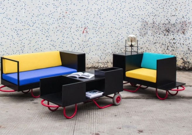 Movable Furniture Inspired by Hand Trucks - IPPINKA Interior Design