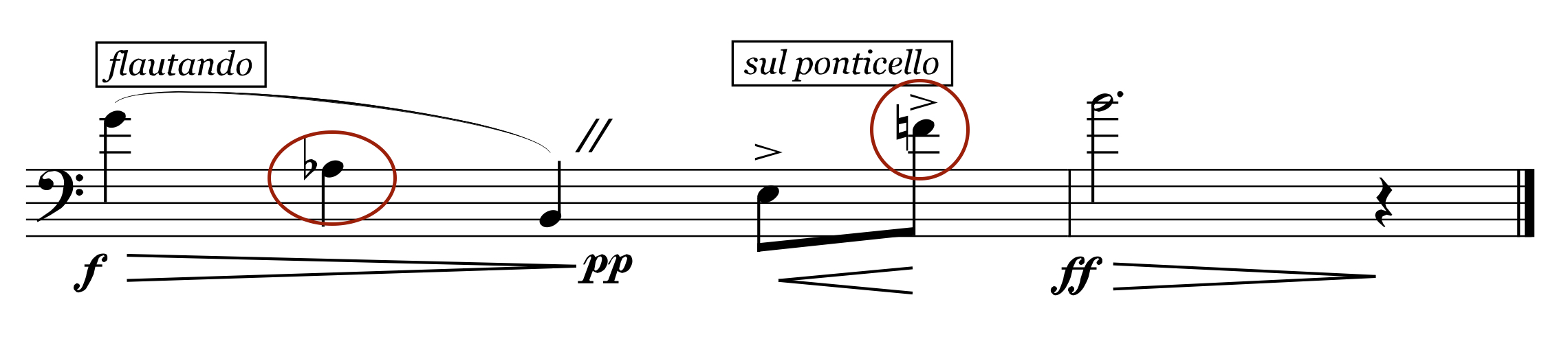Experiment with changing notes to leave the traditional home key of G-major