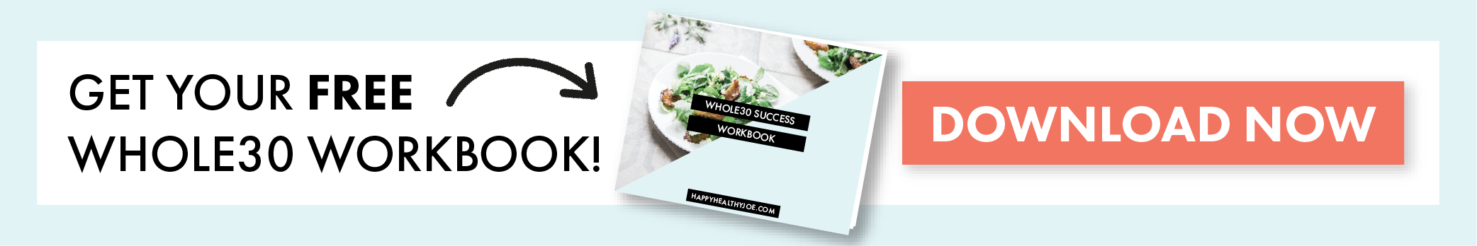 Get Your Free Whole30 Workbook | Whole30 | Happy Healthy Joe | Integrative Health Coach