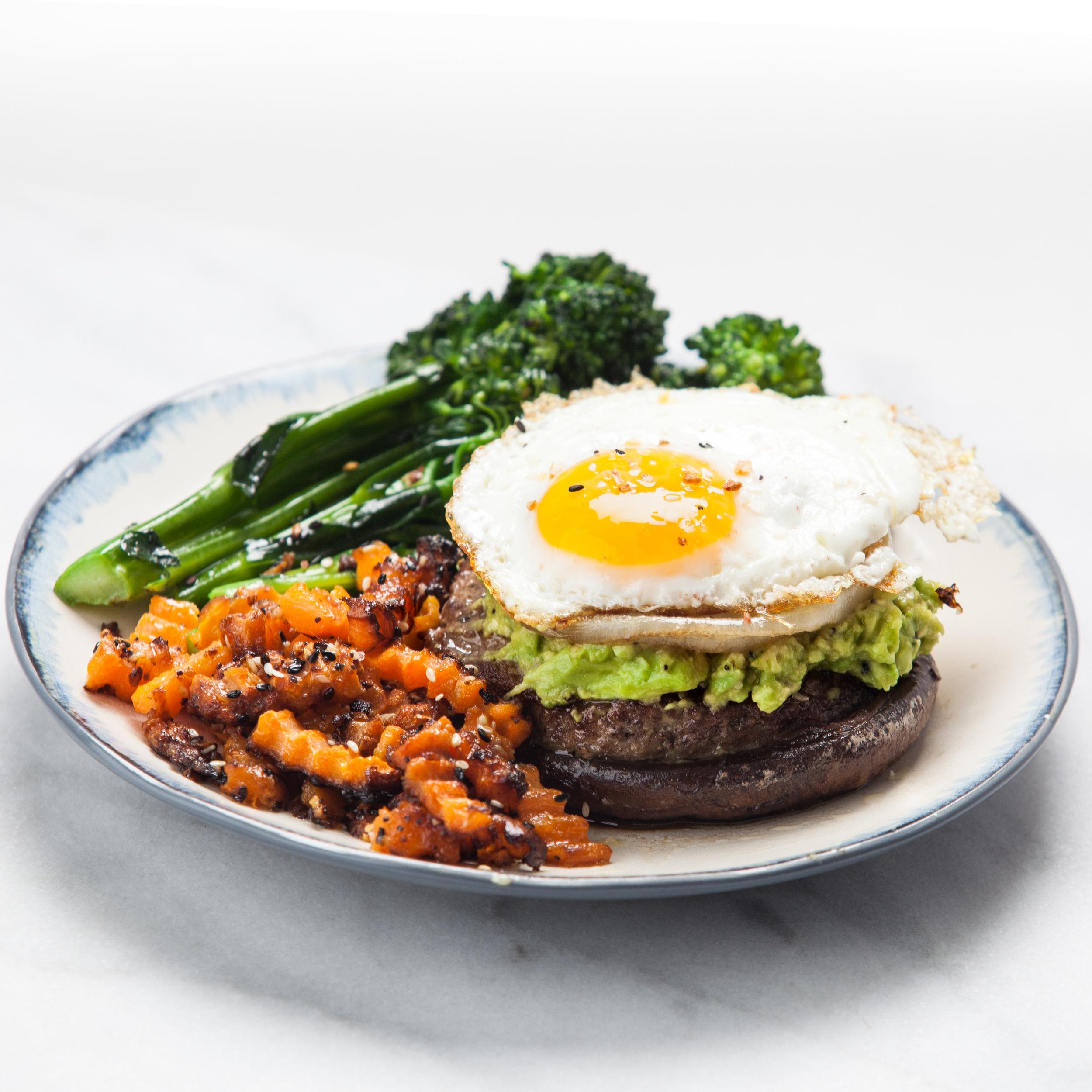 Recipe: Whole30 Paleo Open-faced Portobello Burger | Happy Healthy Joe