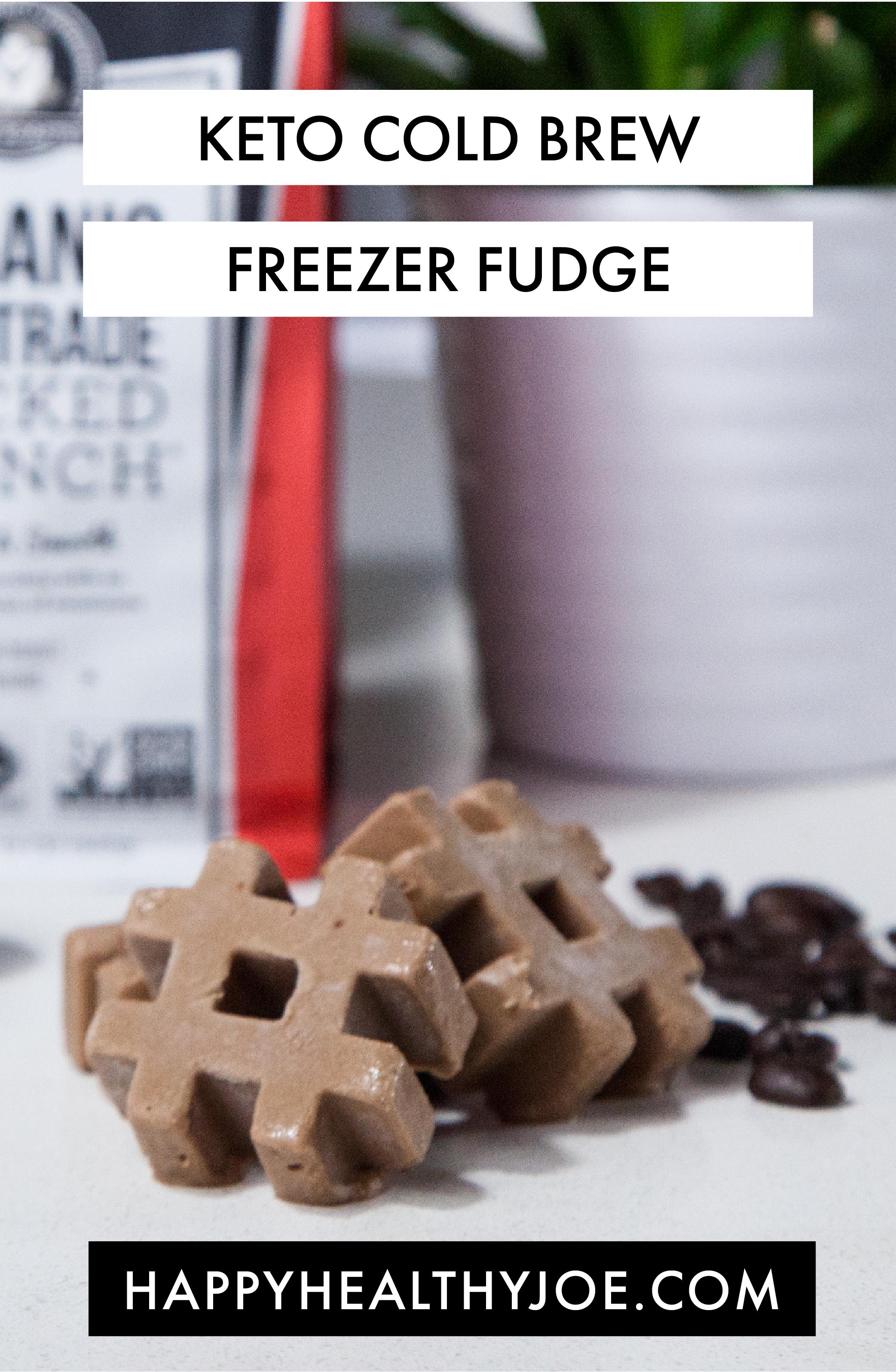 Keto Cold Brew Freezer Fudge Recipe