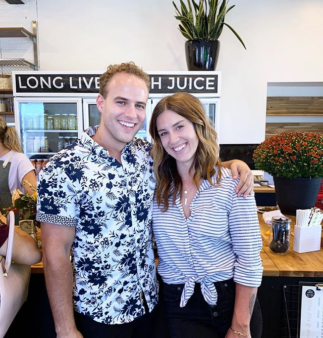 I'm so proud of my dear friend & fellow entrepreneur, @brittanyshimmin!  Today we celebrated @vivejuicery's glow-up & remodel - swipe to see the space! 😍🌈✨ Same great juice, brand new look.  If you're in the SLC area, you HAVE to swing by! #ohkaleyes