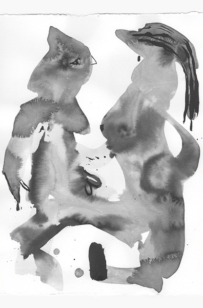 Untitled (Nudes #5)     2015  Ink (Limited edition of 500 large-scale photocopies)