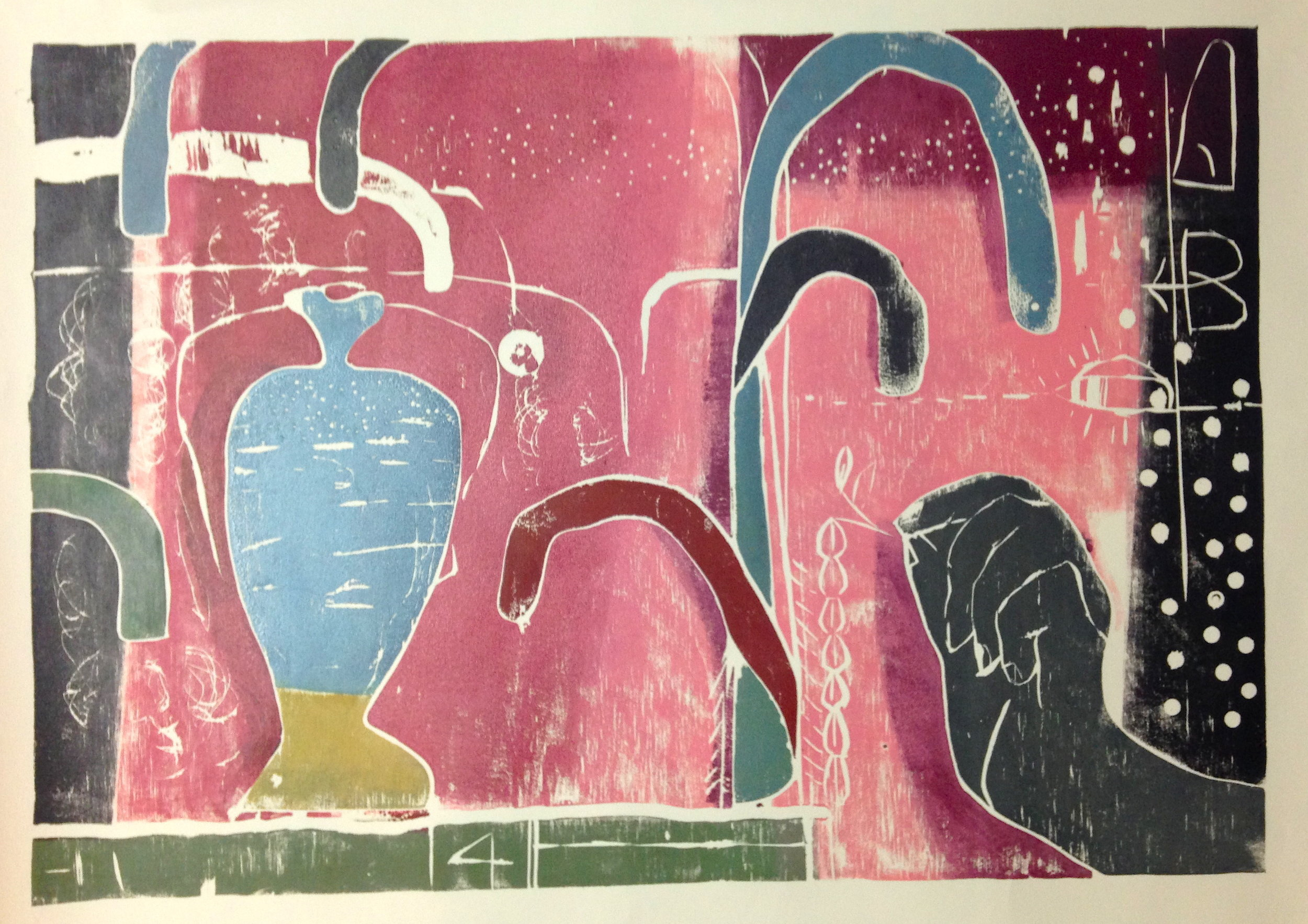 Untitled    2016  color woodblock print (proof)