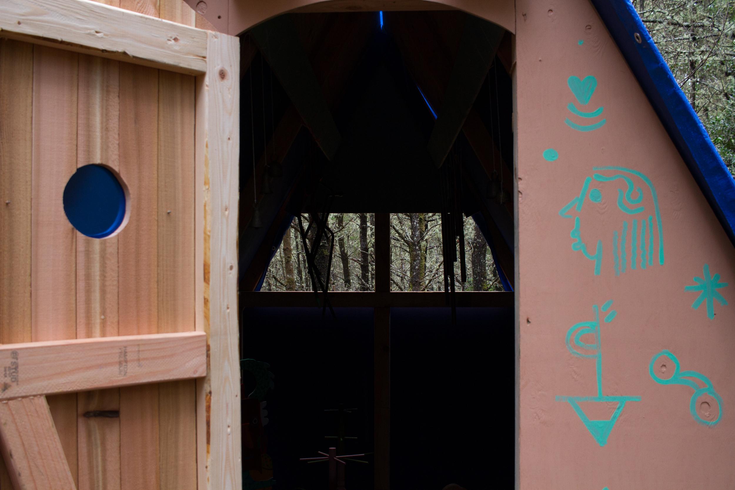 Installation view with door open.