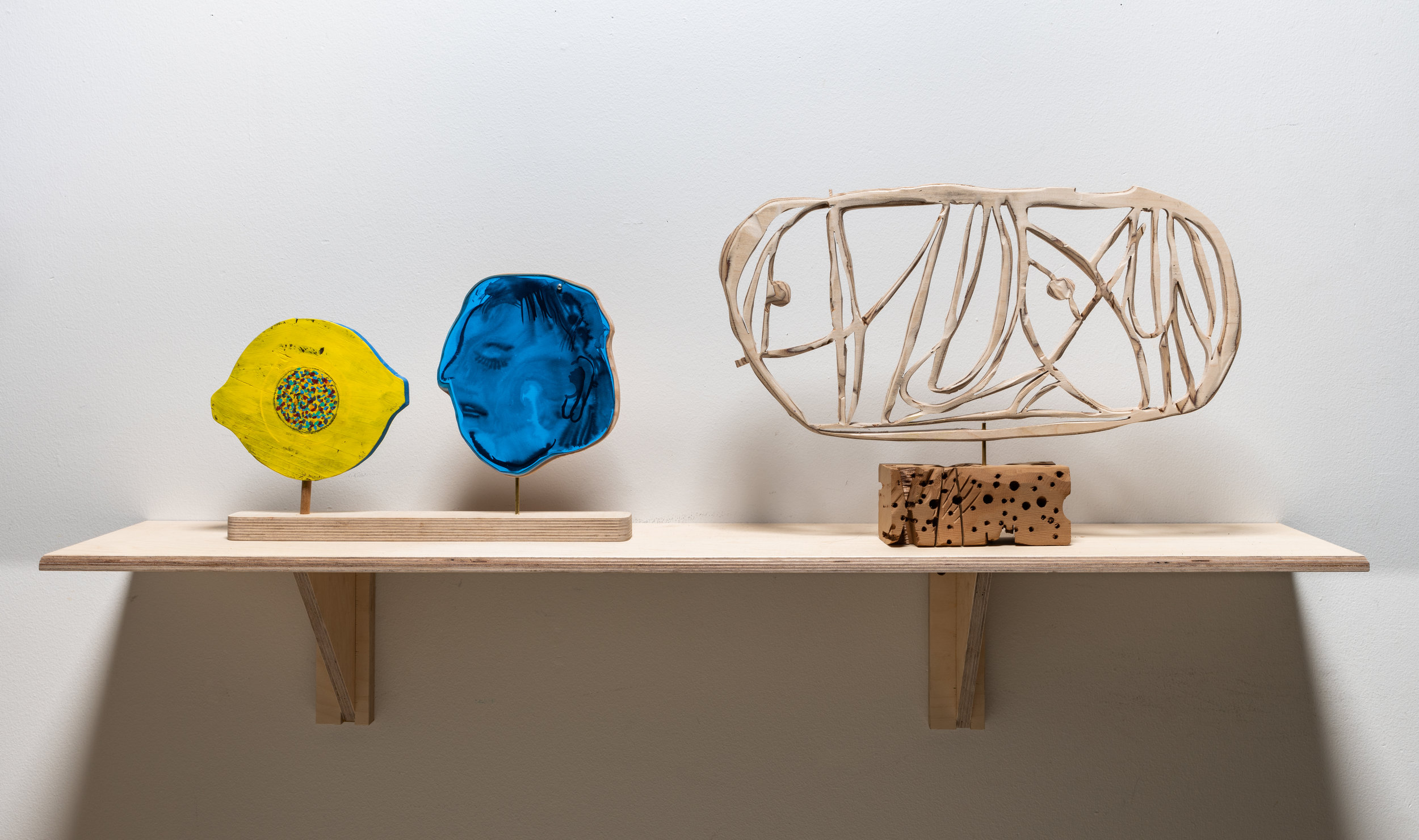 The Taste Of Lemon  (L),  Untitled  (R)  2019  mixed media, dimensions variable