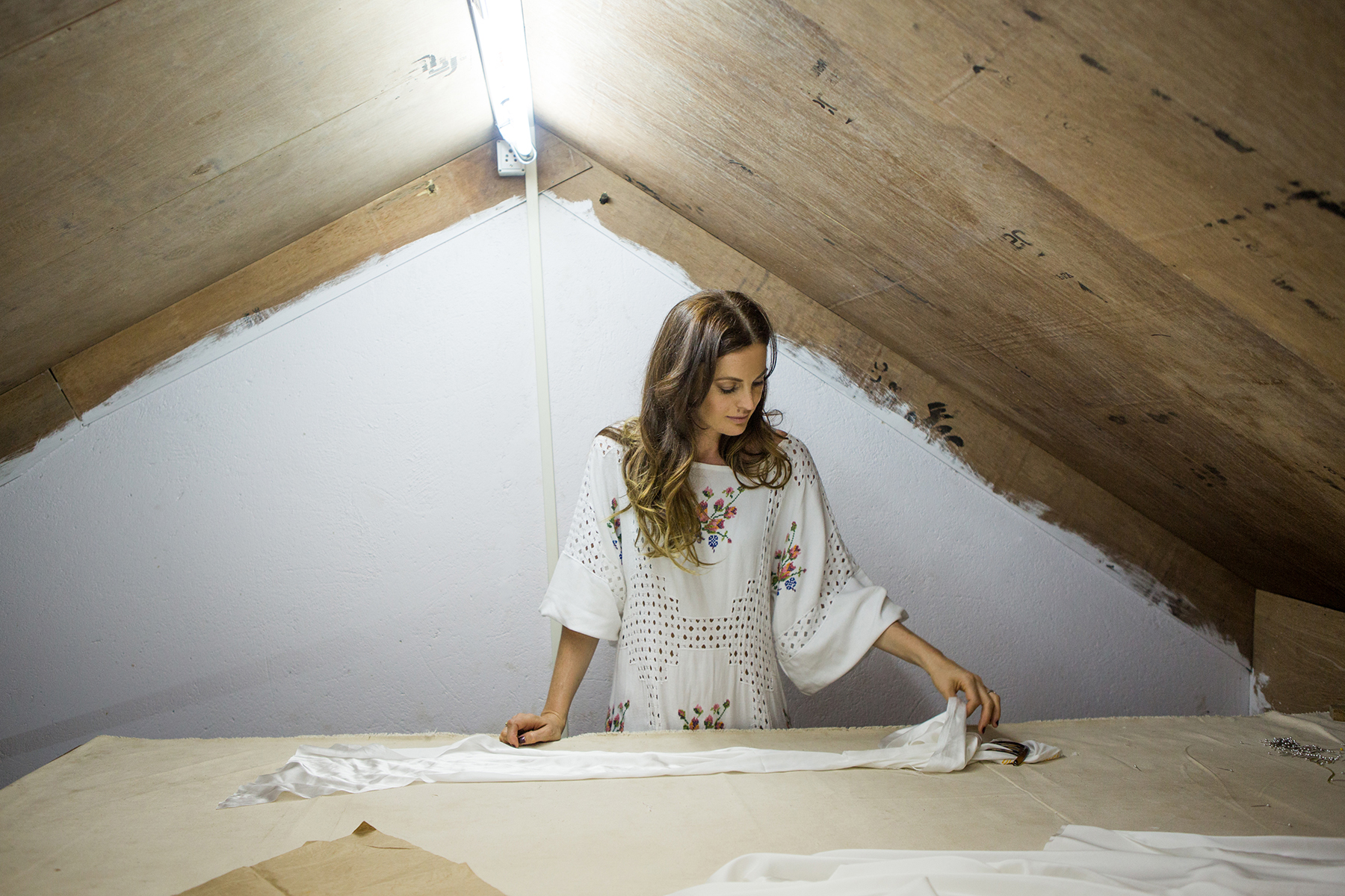 Bo & Luca designer Shannon Pittman in her studio.