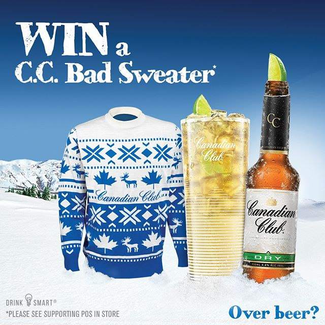 C.C. Bad Sweater month is back and it's more bad-fashionable than ever! Want to win a legendary Bad Sweater for yourself? Simply purchase two C.C drinks in-venue and enter for your chance to win. Comp ends  8 September 2019.  #canadianclub  #ccbadsweater #overbeer #win