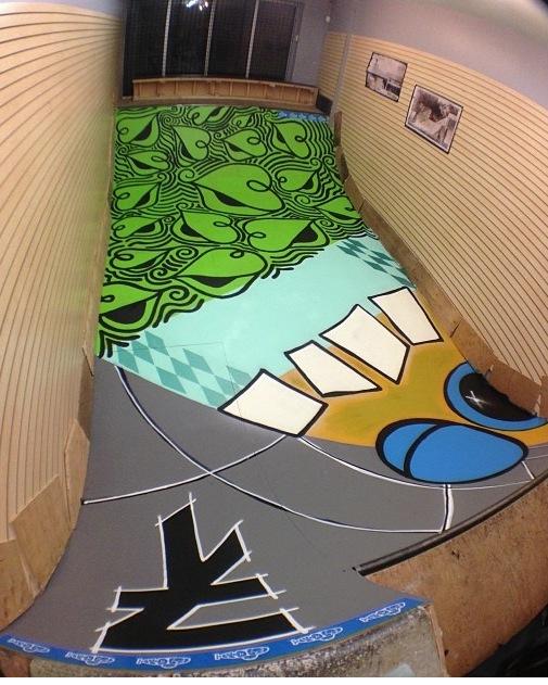 Pat Milbery Ramp Art_720 Boardshop in Denver_ mini ramp installation .JPG