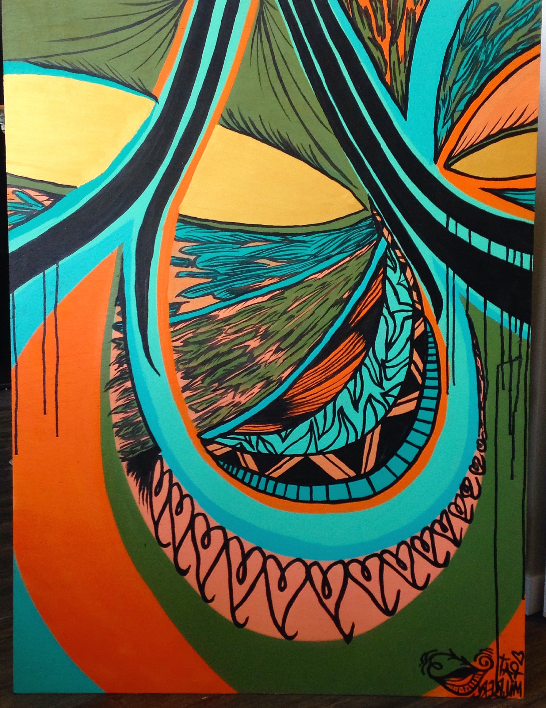 Pat Milbery Art_ feel good flow of pattern example of colors_ applicable for ramp art or surrpounding wall art .JPG
