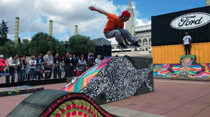 Pat Milbery Art_X-Games Skatepark for Ford Motor Company_Barecelona Spain .png