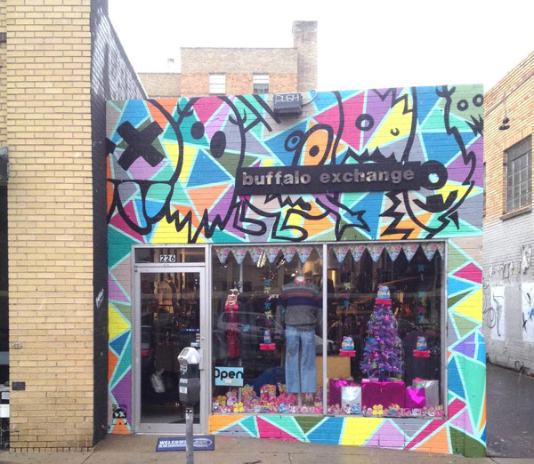 2015 Buffalo Exchange Mural by Pat Milbery & Captain Safety