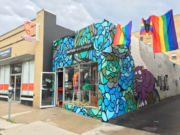 So Gnar x Buffalo Exchange Mural - 2016 Refresh by Pat Milbery & Pat McKinney