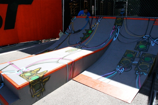 Pat Milbery x Dave Sheets Art on So-Gnar x Ford Auto X Games Activation