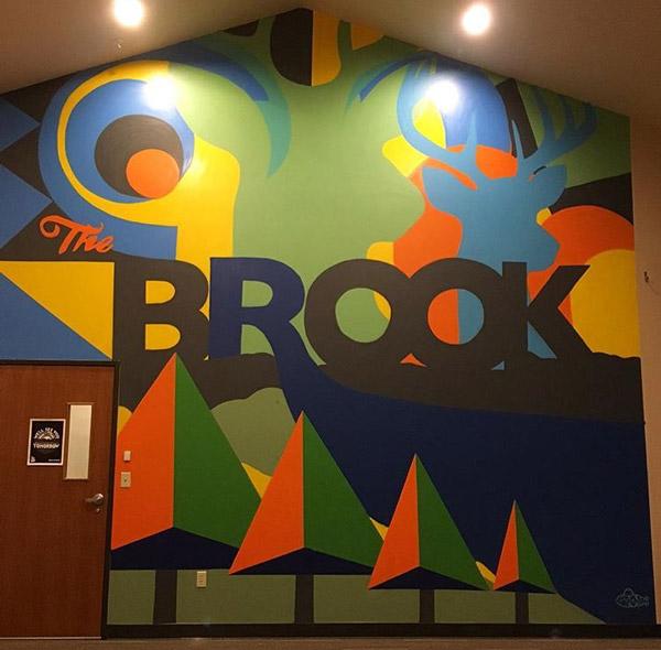 So-Gnar x The Brook Church Interior Mural by Pat Milbery & Danny Fernandez