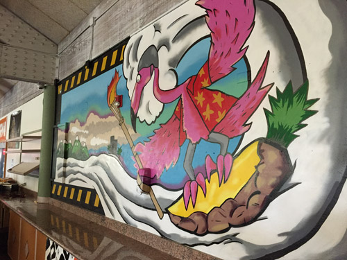 So-Gnar x Woodward Copper Cafeteria Mural