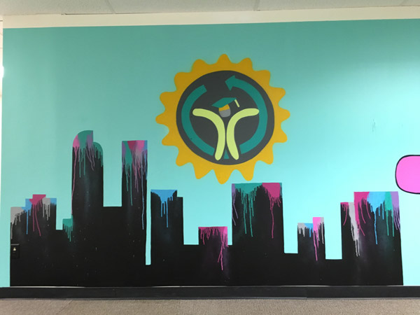 Pat-Milbery_Pat-McKinney_Montbello-School-Installation_Denver-Skyline_Paint-Drips_Indoor-Mural.jpg
