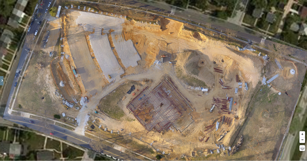 Still image Aerial Mapping by drone. Photogrammetry by drone produces an orthomosaic or birds eye view map.