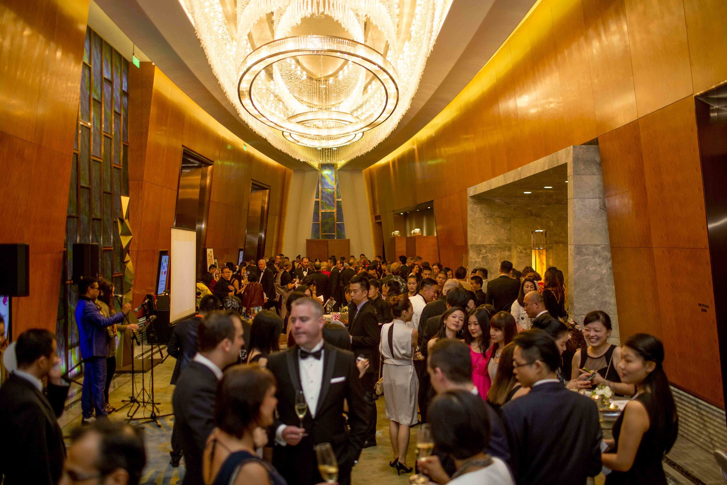 Remarkable turnout at the annual charity auction gala.