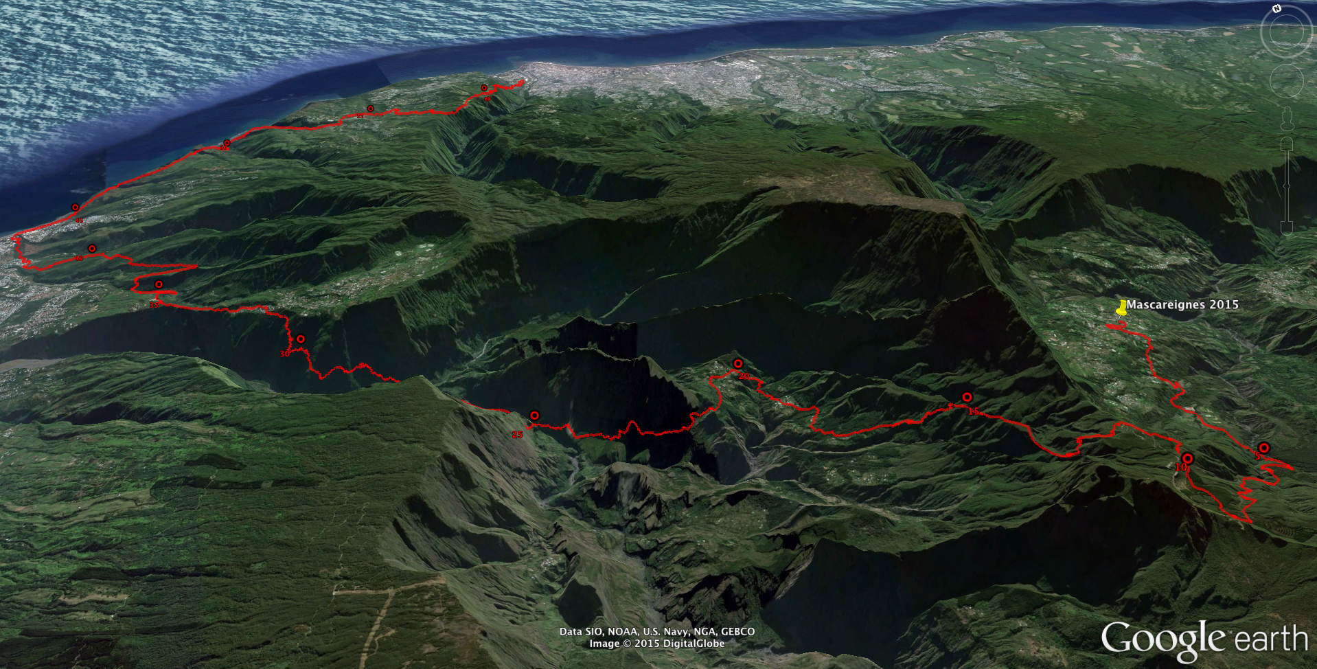 The course as viewed from the southwest.Click on the image for a larger view.