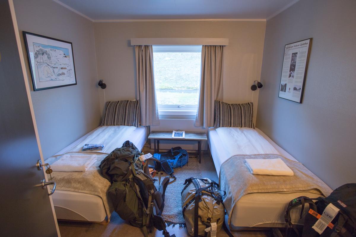My & Matias's room at Coal Miners Cabin.
