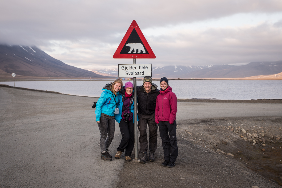 Perhaps the most photographed sign on Svalbard!
