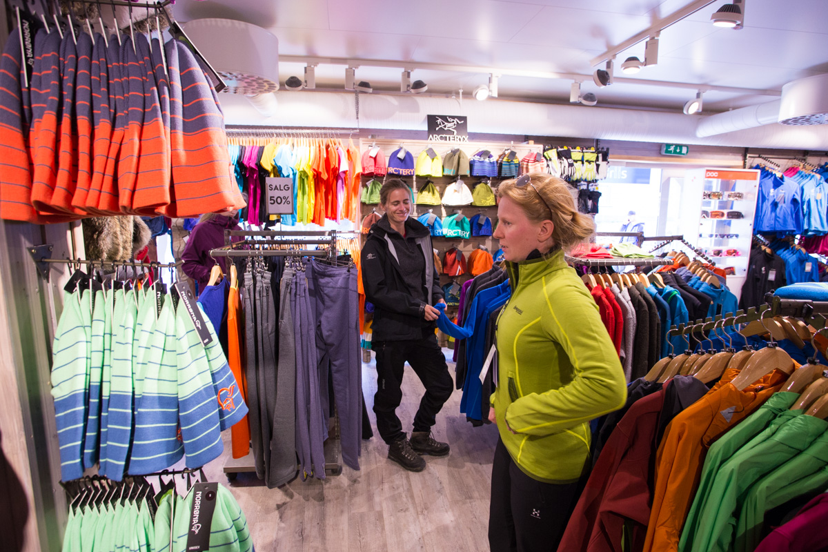 The shops in Longyearbyen sell only the best stuff. You don't have to worry about mistakenly buying a jacket with imitation Gore-Tex or other crap. All the top brands at reasonable prices with low tax.