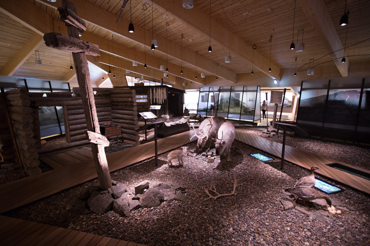 Inside the museum.