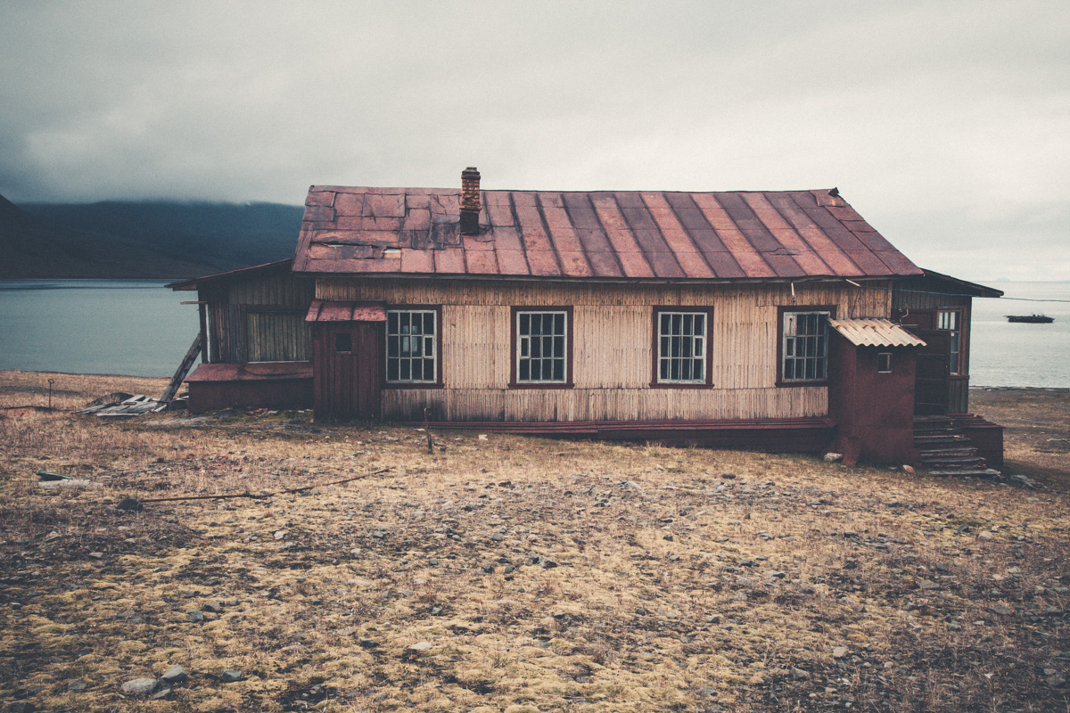 The deserted buildings of Coles Bay.