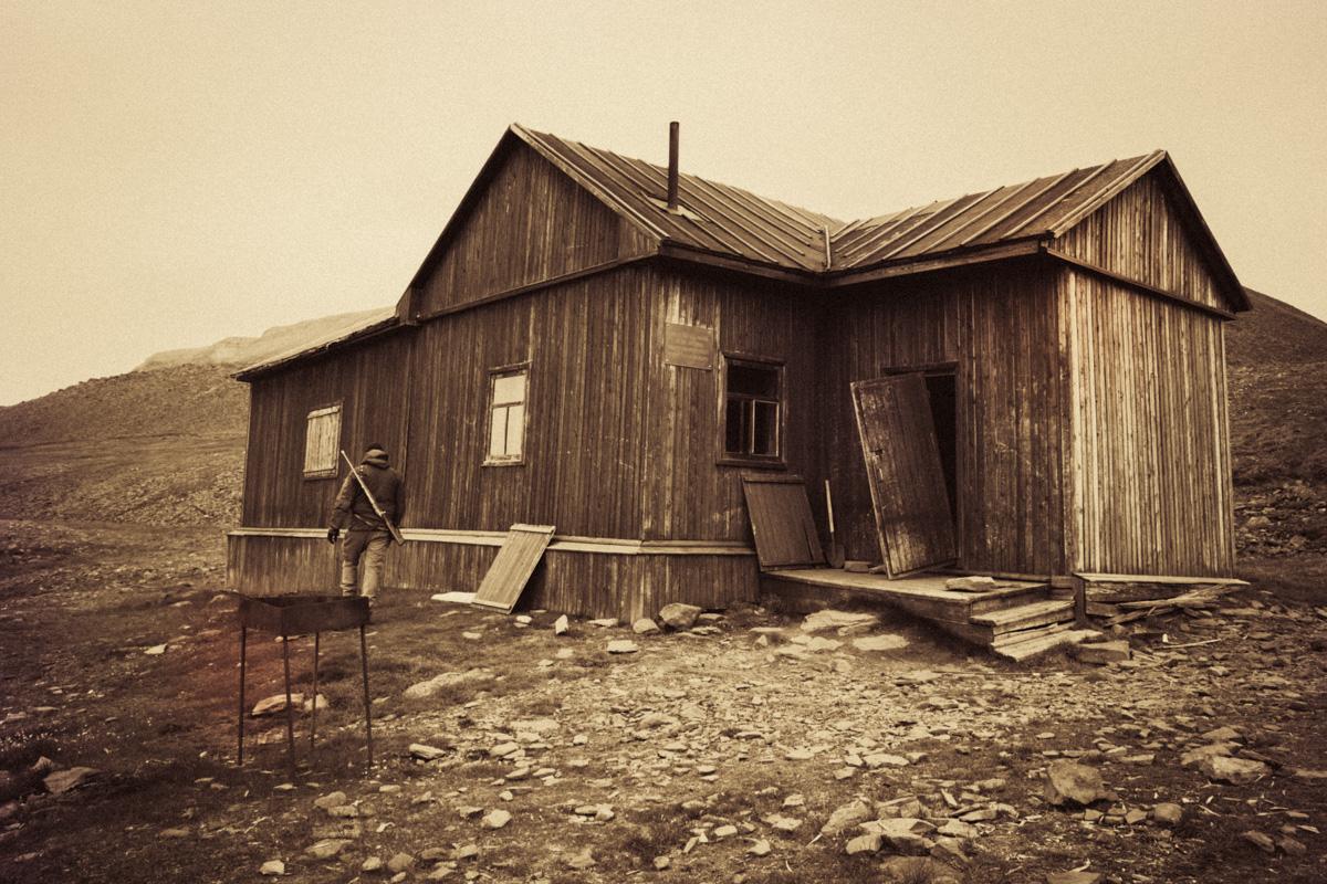 The Russian explorer's cabin.