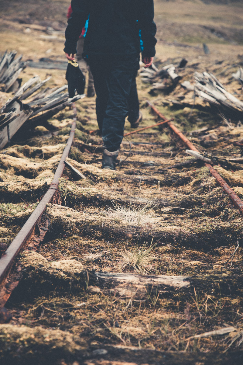 Walking the old railroad tracks back to Colesdalen.