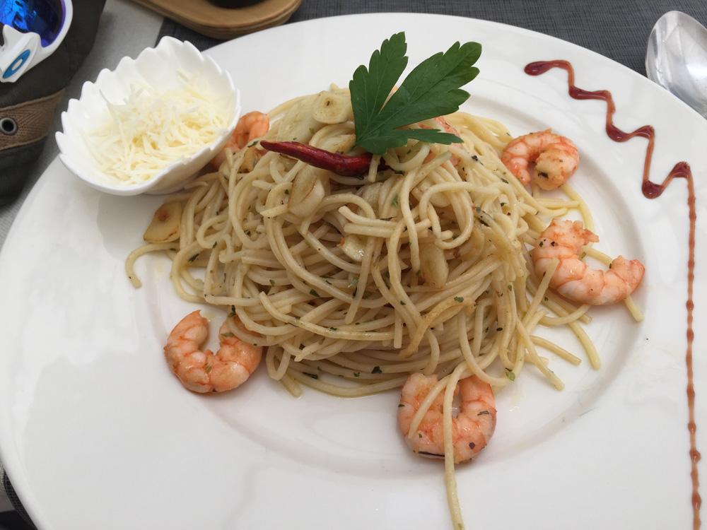 Tasty langoustine pasta.