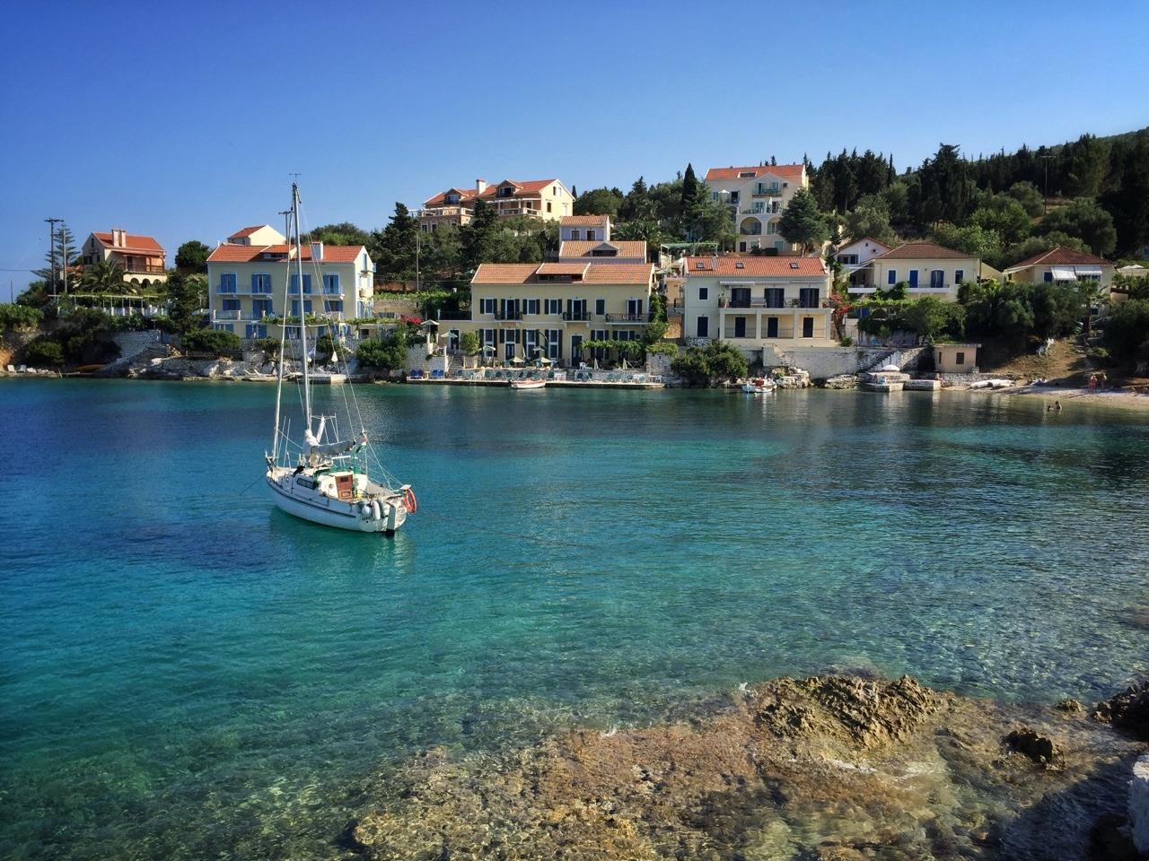A great spot for snorkelling. Fiskardo, Cephalonia.