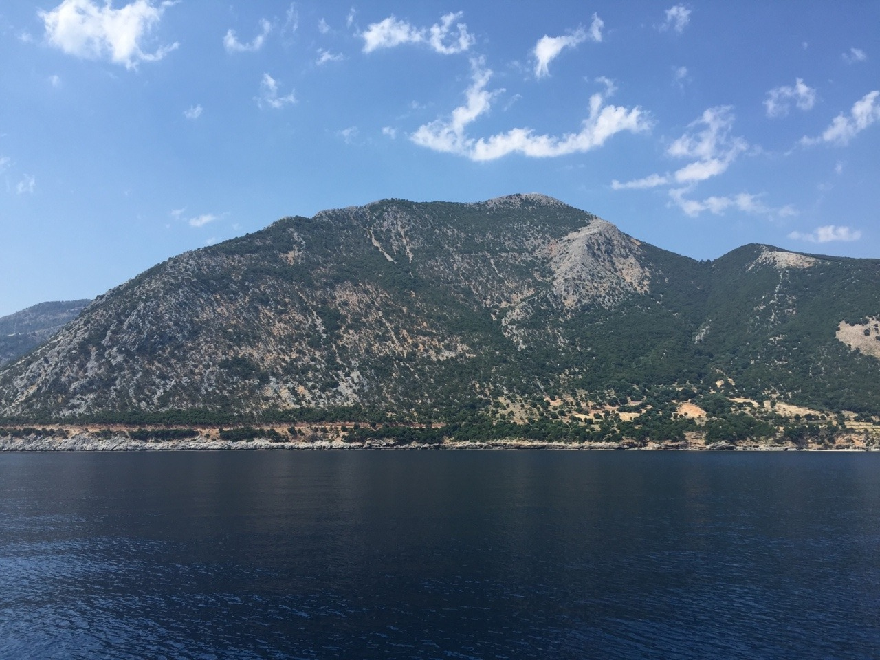 East face of the mountain in Poros.