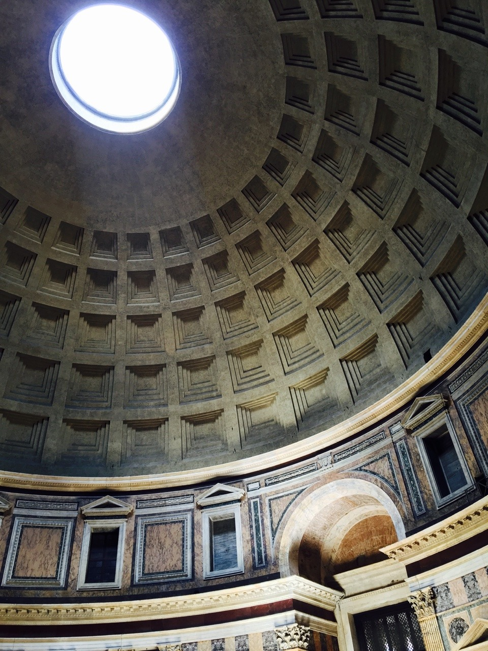 This ceiling is incredible. I had to come into the Pantheon a couple of times just to admire the space.
