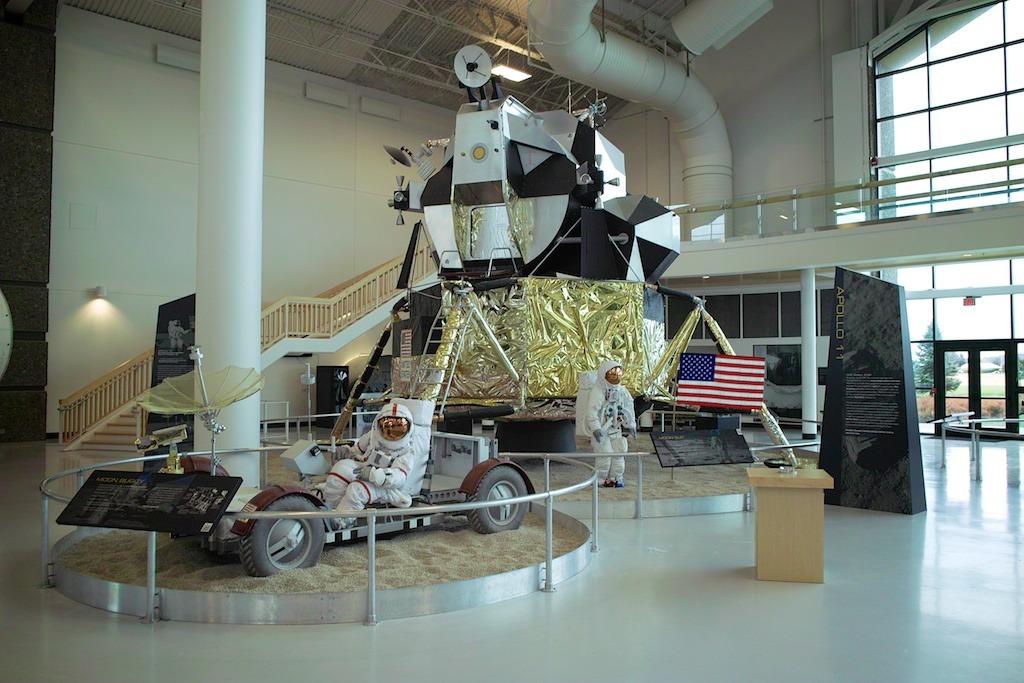 Mock-up of the Apollo Lunar Module & Lunar Rover