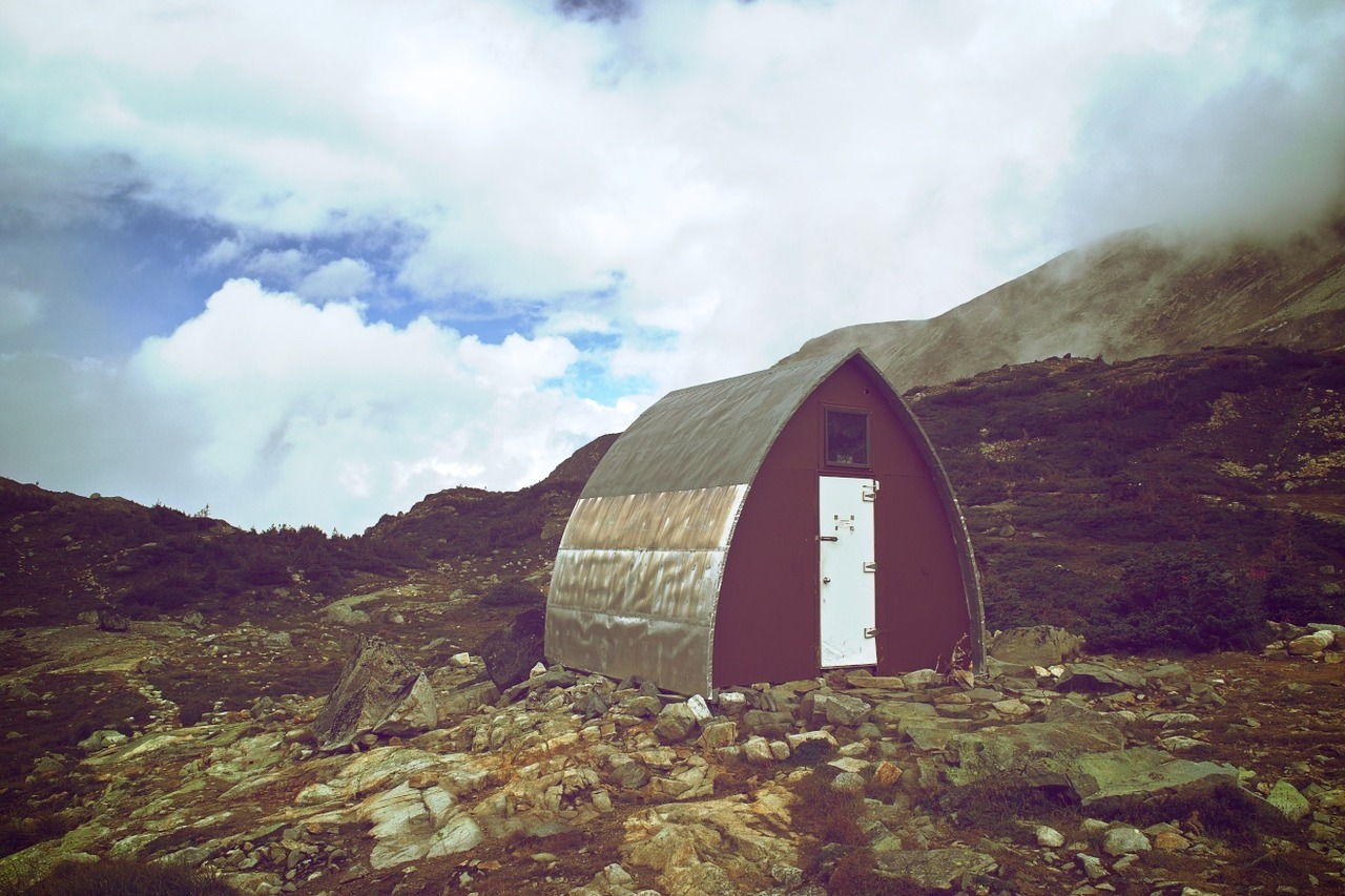 Wedgemount Hut, built by the BC Mountaineering Club in 1970