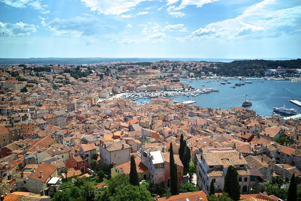 Rovinj from the Bell Tower