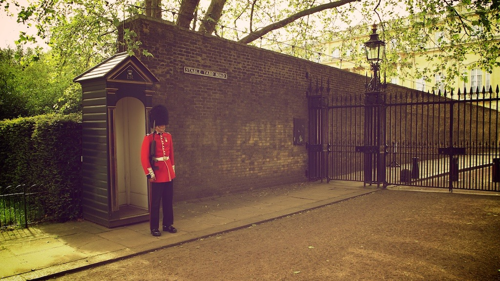 The Queen's Guard at Stable Yard Road