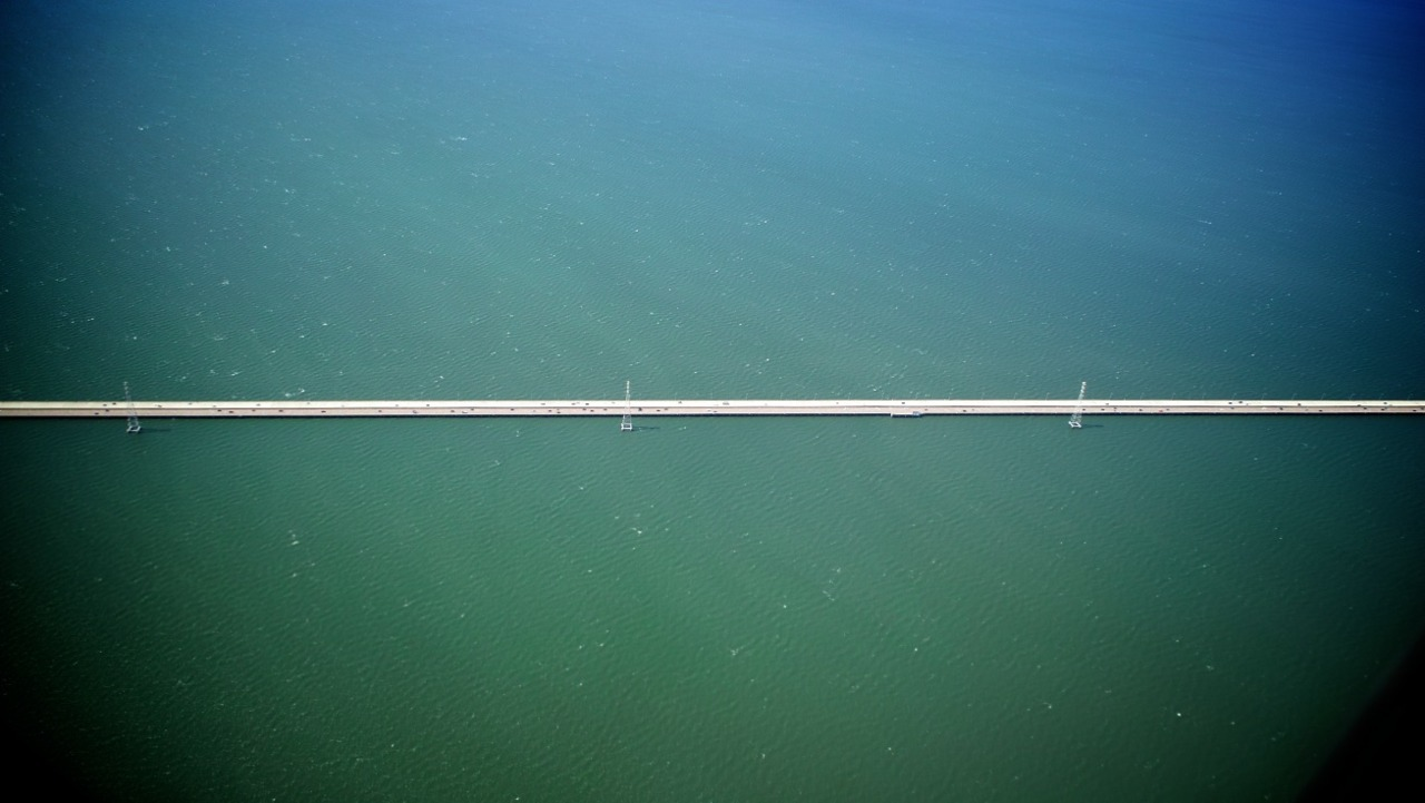 San Mateo Bridge, San Francisco Bay, California