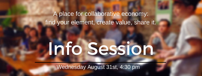 A place for collaborative economy: find your element, create value, share it.