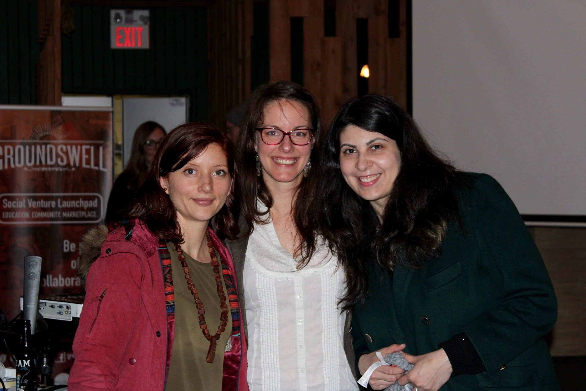 Andrea & Irina from groundswell's first cohort with Paola